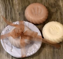 Kerámia szappantartó szappannal