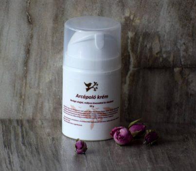 Arcápoló krém borágó olajjal, mályva kivonattal és rózsával száraz bőrre