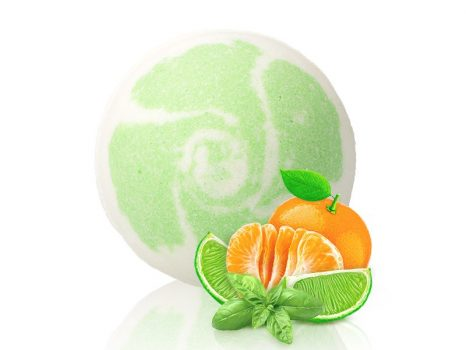 Pezsgő fürdőgolyó - Lime Basil Mandarin