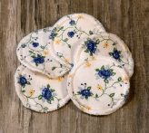 Mosható arctisztító korongok - kék és sárga virágok