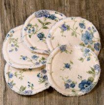 Mosható arctisztító korongok - kék virágok