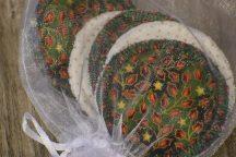 Mosható arctisztító korongok - karácsonyi mintával