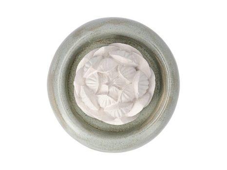 Aromakő kerámia alátéttel - lótusz 7 cm