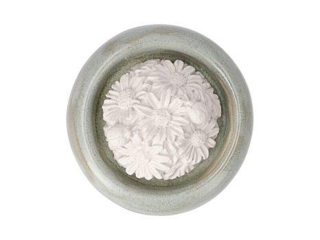 Aromakő kerámia alátéttel - körömvirág 7 cm