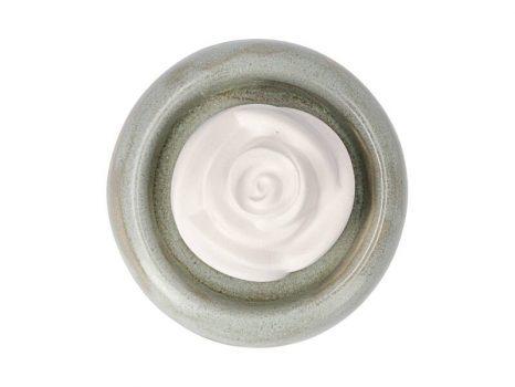 Aromakő kerámia alátéttel - rózsabimbó 7 cm