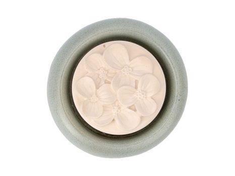 Aromakő kerámia alátéttel - hortenzia 7 cm