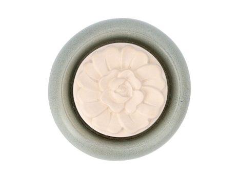 Aromakő kerámia alátéttel - zinnia 7 cm