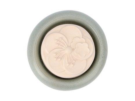 Aromakő kerámia alátéttel - boglárka 7 cm