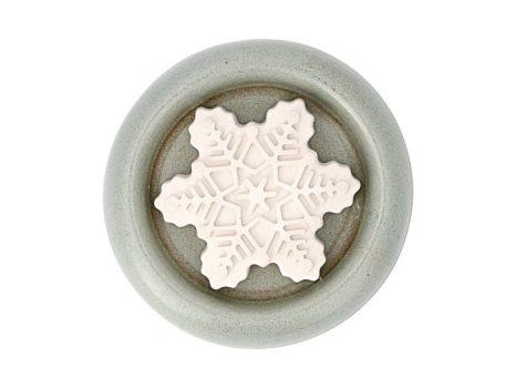 Aromakő kerámia alátéttel - kokárdavirág 7 cm