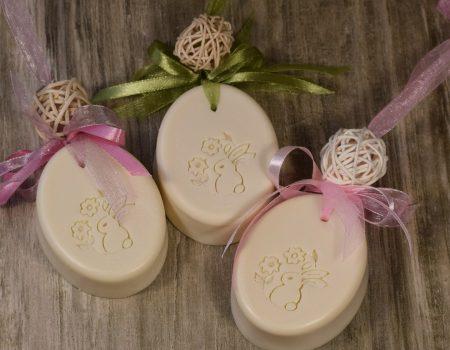 Húsvéti szappanfüzér - fehér