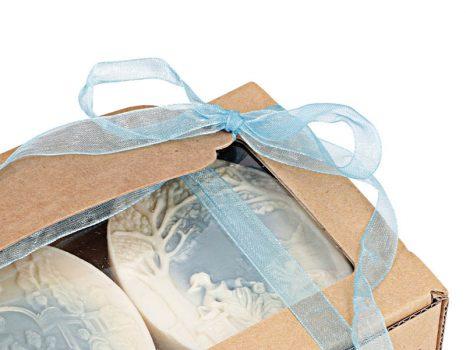 Toile Bleu sheavajas parfümszappan ajándékdoboz 3 db-os