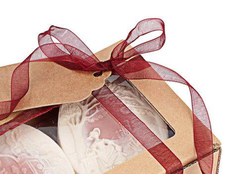Toile Rouge sheavajas parfümszappan ajándékdoboz 3 db-os