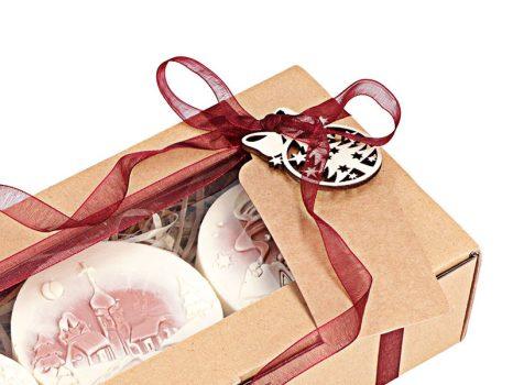 Téli mese karácsonyi szappan ajándékdoboz - piros