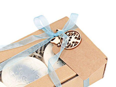 Téli mese karácsonyi szappan ajándékdoboz - kék