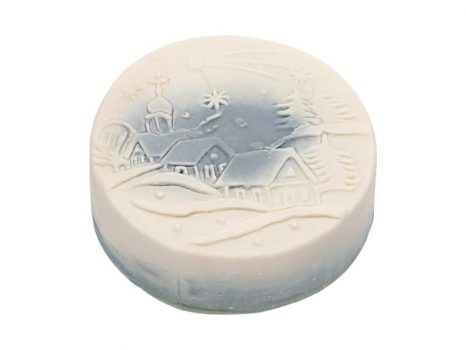 Téli mese karácsonyi szappan kék - falucska