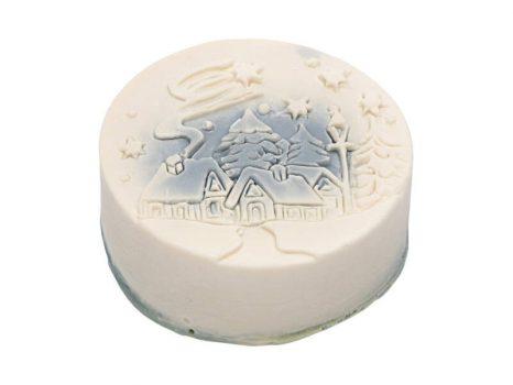 Téli mese karácsonyi szappan kék - házikó