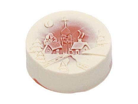Téli mese karácsonyi szappan piros - templom