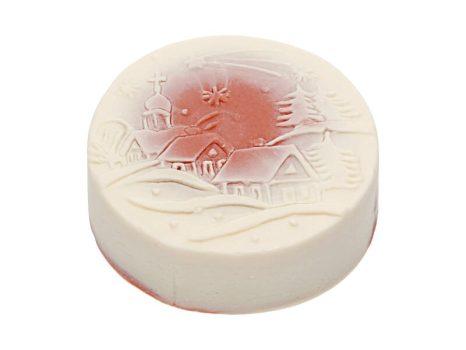 Téli mese karácsonyi szappan piros - falucska