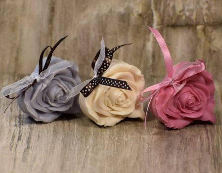 Esküvői köszönetajándék - rózsás szívecske
