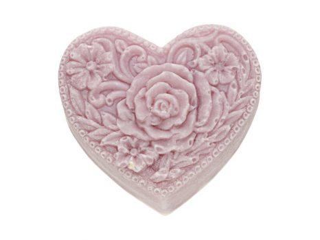 Esküvői köszönetajándék szappan - rózsás szívecske