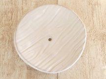 Kerámia szappantartó - faerezetes fehér